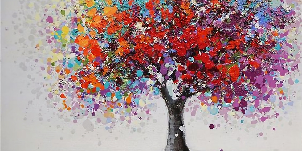 ZOOM RECORDING Paint and Sip at Home 'Abstract Blossom Tree'