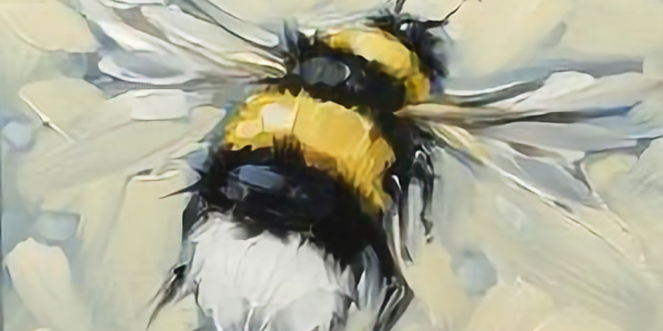 ZOOM RECORDING Paint and Sip at Home  'Busy Bee'