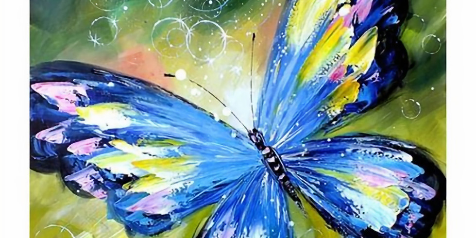 Paint and Sip at Home Art Webinar 'Butterfly