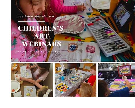 Children's Art Webinars Voucher