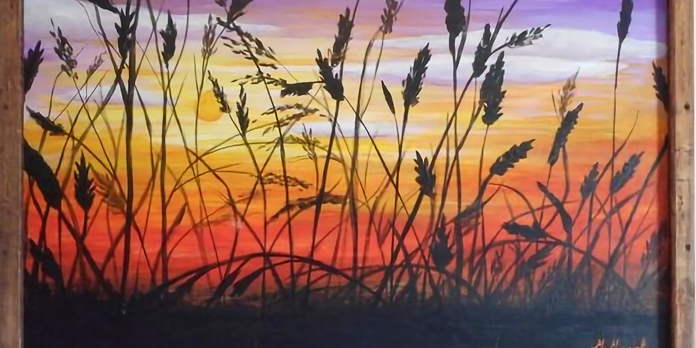 Paint and Sip at Home Art Webinar 'Wheat Field'