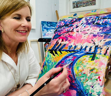 Paint and Sip at Home 'Impressions in Pink'