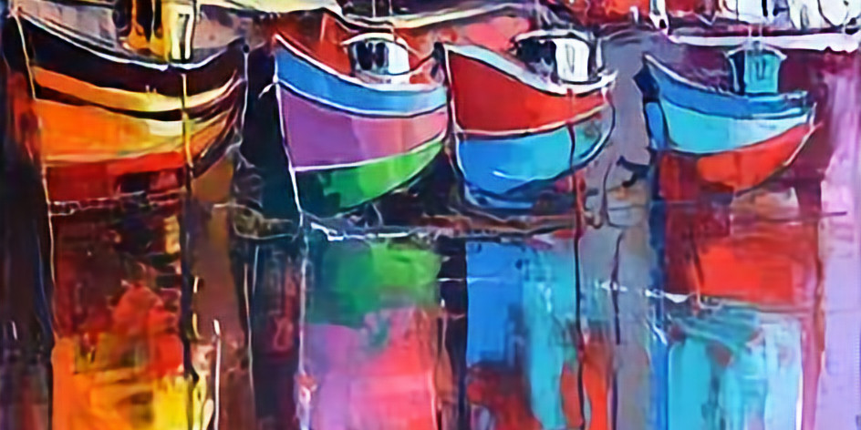 Live Paint and Sip at Home 'Harbour'