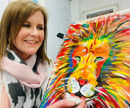 Paint and Sip at Home 'Lion'