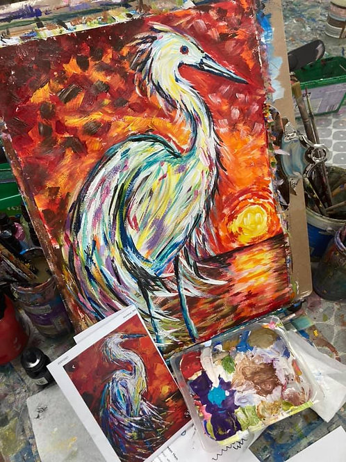 Paint and Sip at Home 'Heron'