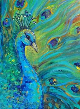 Children's Art Webinar 'Proud Peacock'