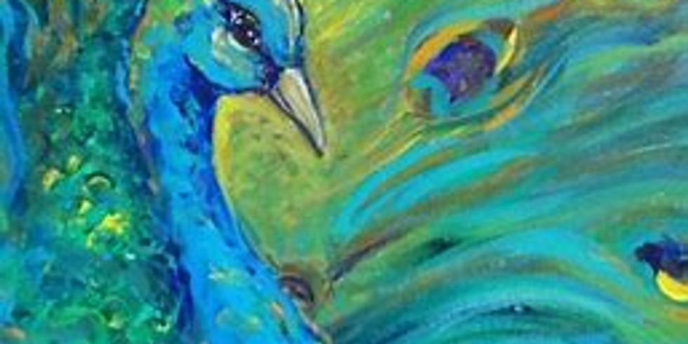 ZOOM RECORDING Children's Art Webinar 'Proud Peacock'