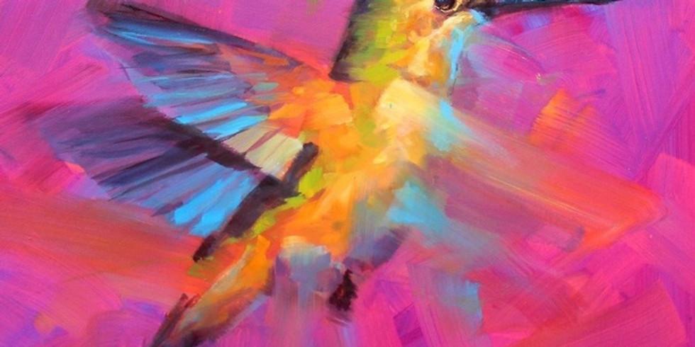 Paint and Sip at Home 'Humming Bird'