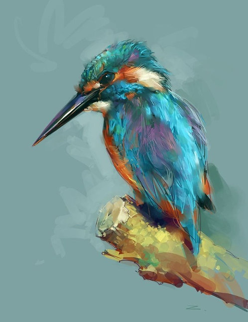 Paint and Sip at Home 'Kingfisher'