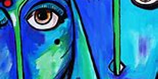 Live Children's Art Webinar 'Blue Portraits'