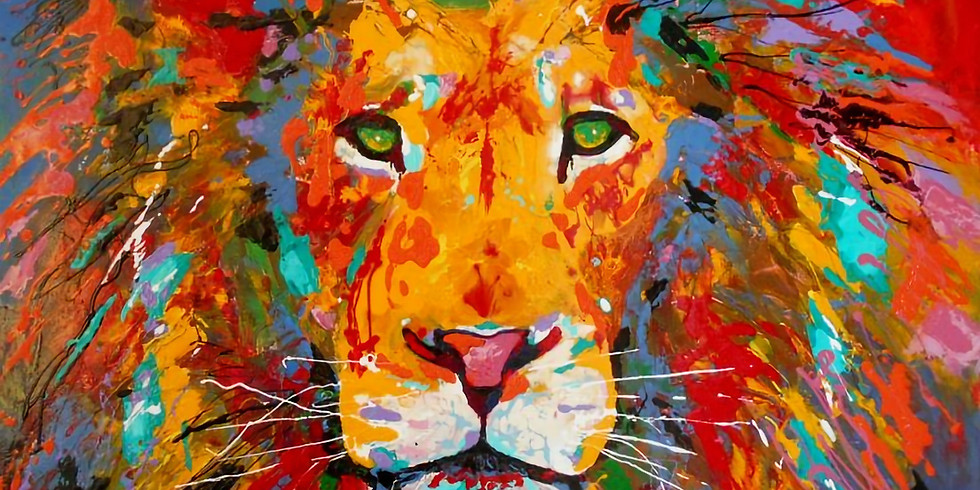 Live Paint and Sip at Home 'Lion'