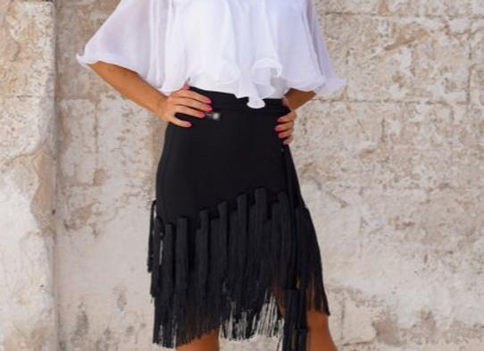 L007 Fringe Practice Skirt