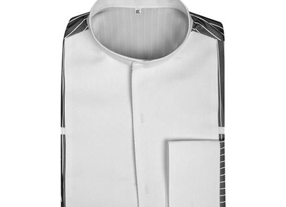 4092 Pinstripe/White Stretch Shirt