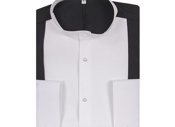 4091 White/Black Stretch Shirt