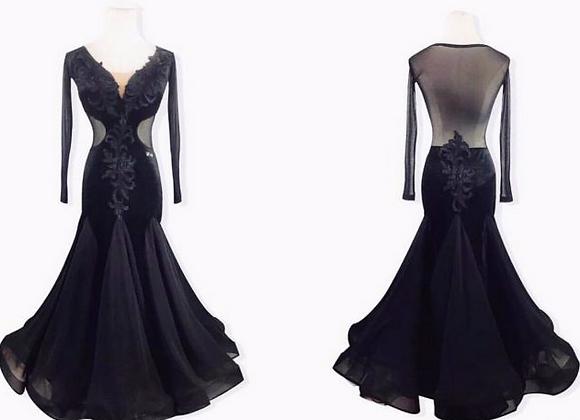 M157 Mesh Ballroom Practice Dress