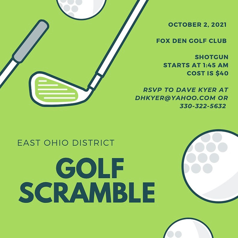 Golf Scramble - East Ohio District