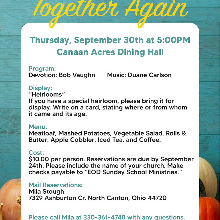 Primetime Fall Banquet