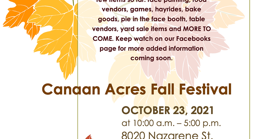 Canaan Acres Fall Festival