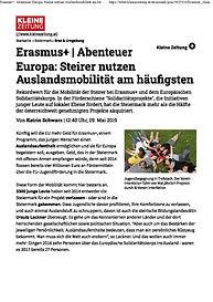 Abenteuer_Europa Kleine Zeitung 09.05.20