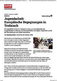 Jugendarbeit-Europäische Begegnungen in