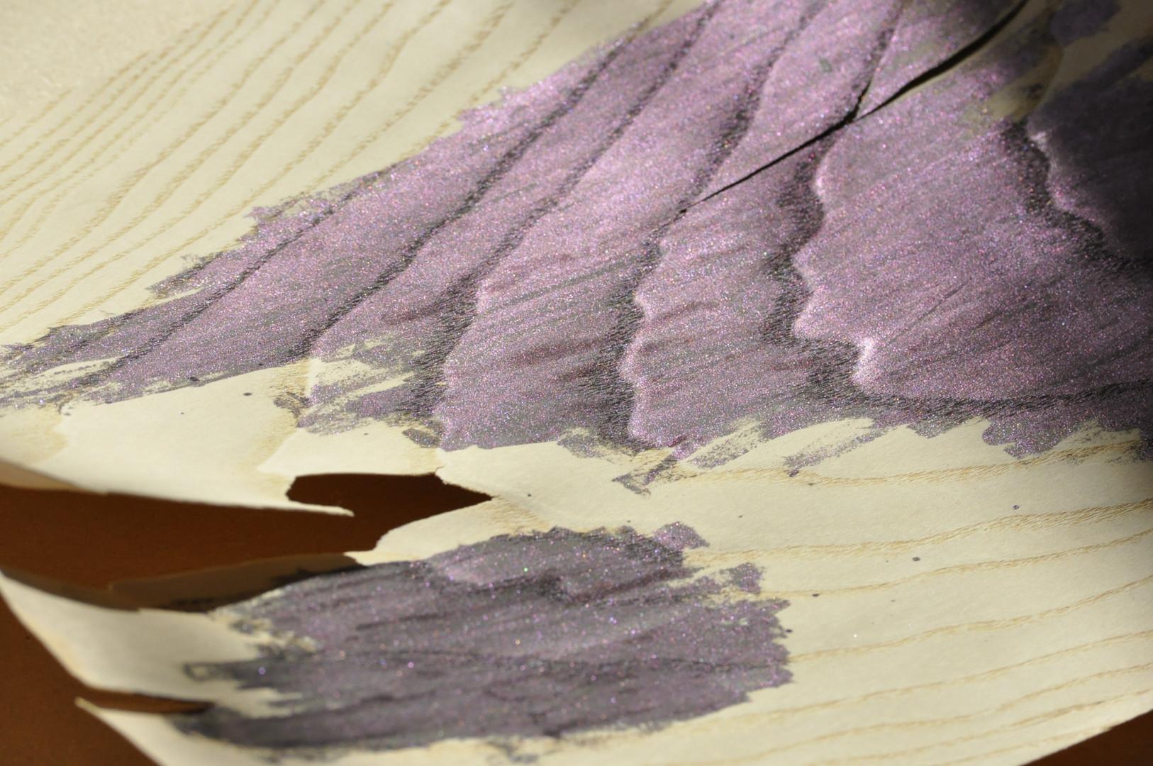 Nail varnish on wood