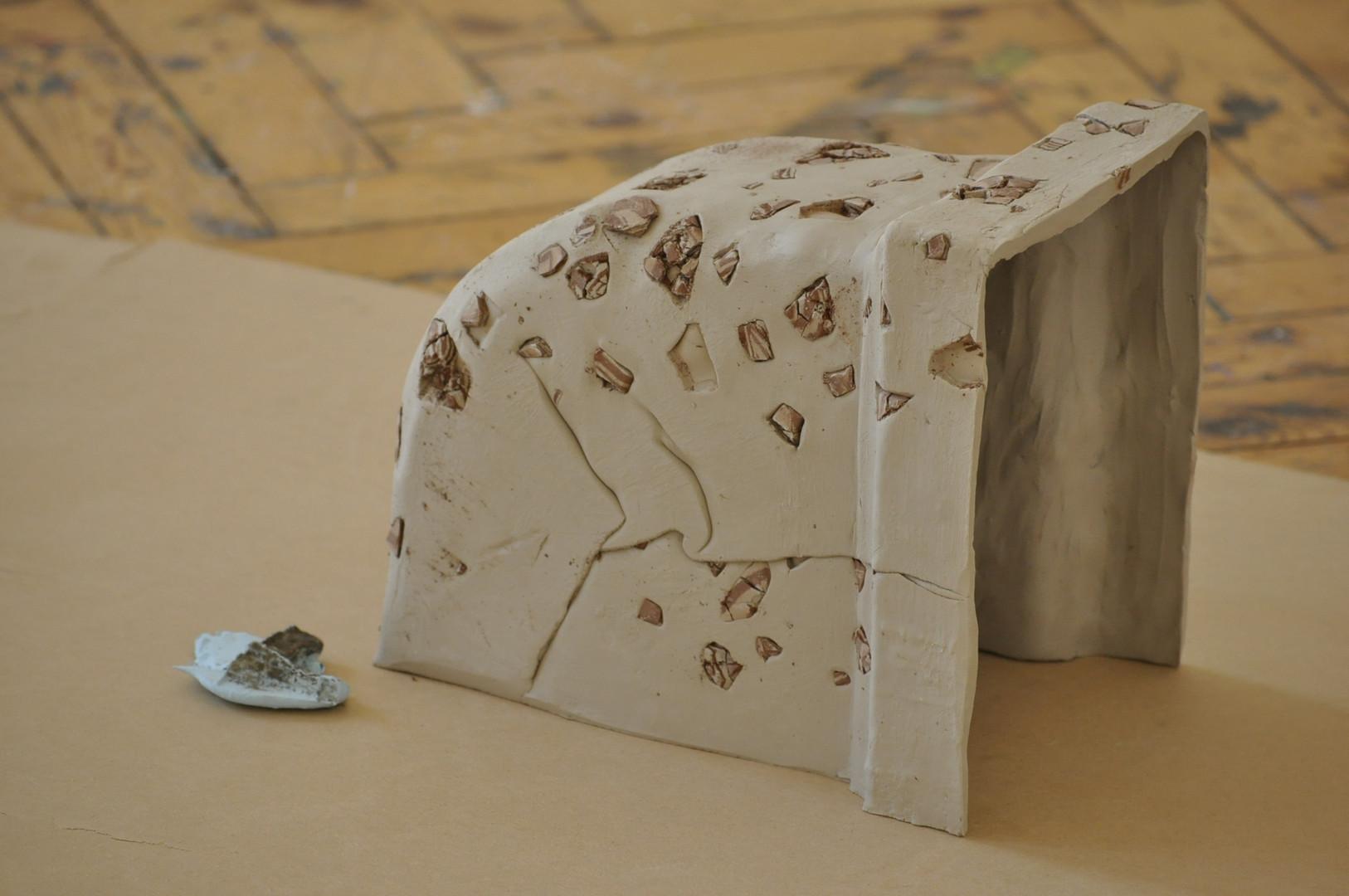 Ceramic, alignate on MDF