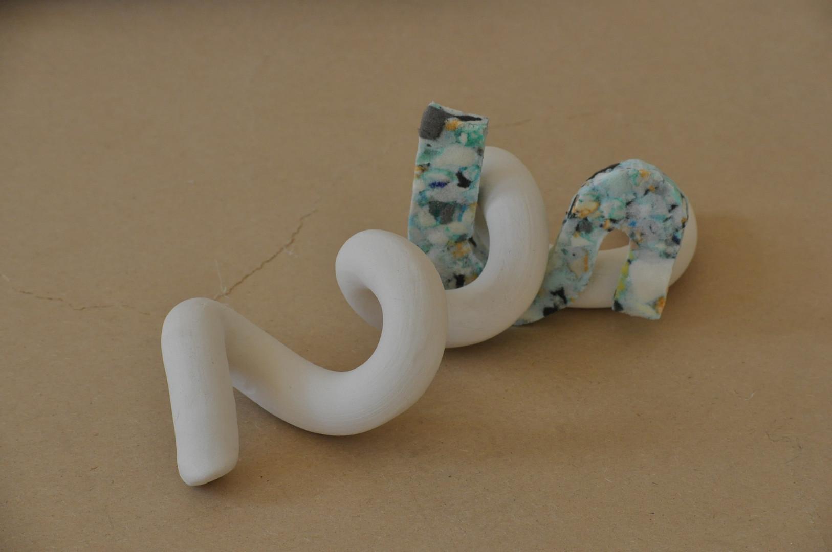 Ceramic, recycled foam
