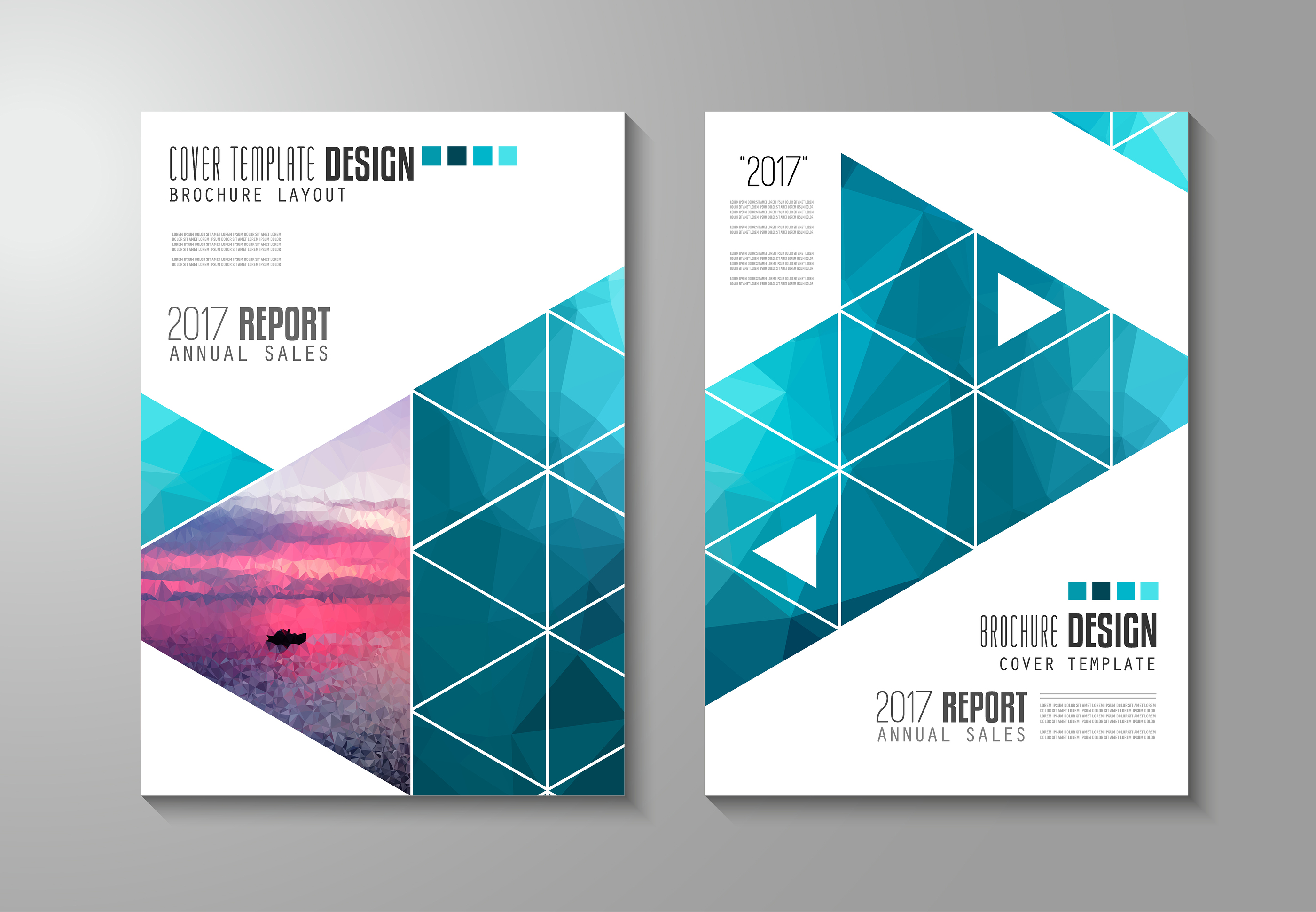 Brochure template, Flyer Design or Depliant Cover for business presentation and magazine covers, ann