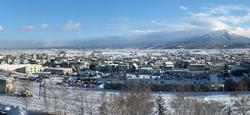 ナチュラクスホテルからの十勝岳の眺望