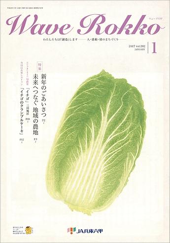 新さんだ農園 いな岡、いちご狩り記事、JA兵庫六甲1月号に掲載