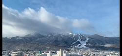 十勝岳の朝の景色