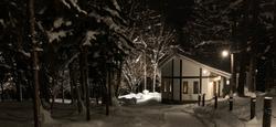 ル・ゴロワの夜 雪景色