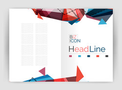 Business triangle design modern business annual report flyer. illustration