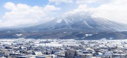 富良野から十勝岳眺め