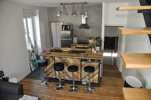 rénovation duplex nantes cuisine sur mesure plan travail pivotant collectif vous pilleux