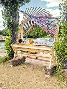bellastock 2016 banc bois canal de l'ourq mobilier urbain collectif vous