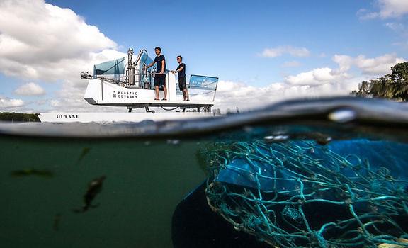 Ulysse pour Plastic Odyssey dessin navire prototype - collectif VOUS