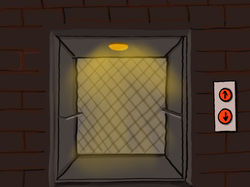 Prison elevator without doors