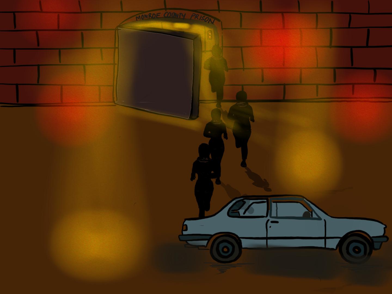 Escape to car