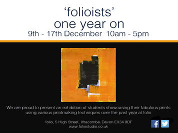 'Folioists' Exhibition 9th - 17th December, open 10 - 5 every day!