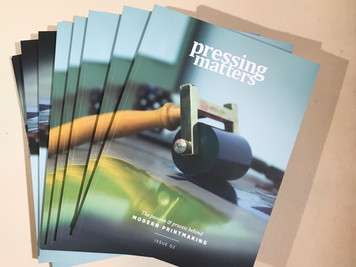 'Pressing Matters', Issue 2,now available, a great magazine rolling in print!£10