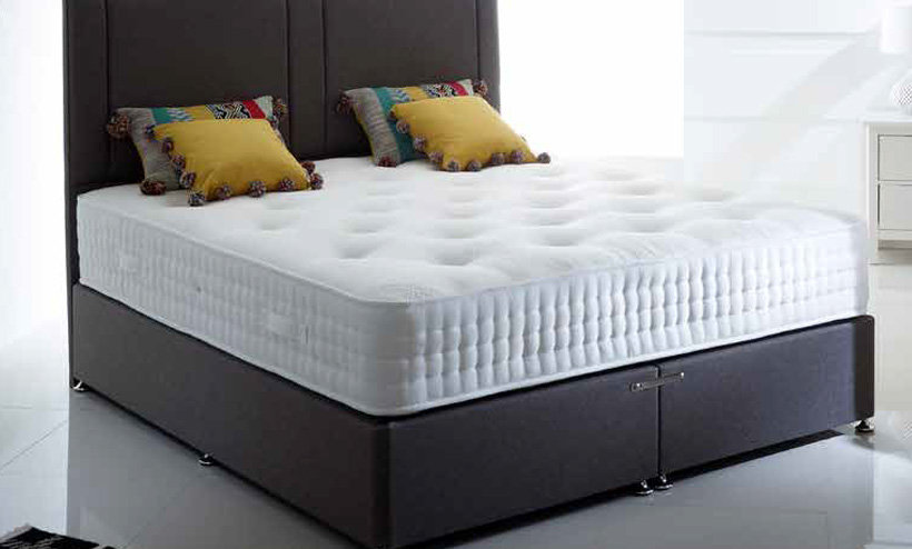 "Natural 1000 4'0""/4'6"" Double Divan Set"