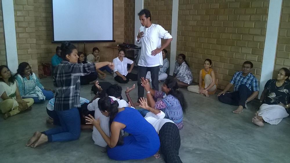 Sri Lanka, Dramatherapy Day, storytelling, story, role-play, enacting