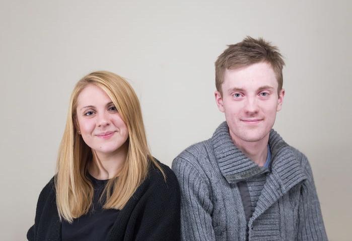 Marissa Green and Jamie Rycroft, facilitators of drama therapy writing group in Cambridge, UK.