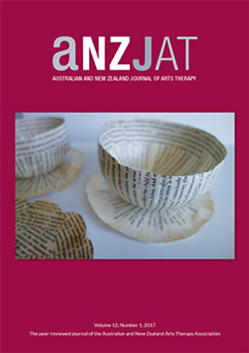 Arts therapies journal cover, Ausralia, New Zealand, Singapore