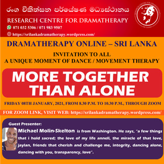 Sri Lanka: Drama Therapy Online Event