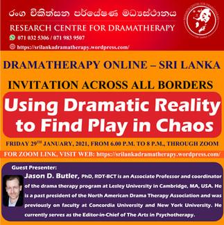 SRI LANKA: Online Dramatherapy Session for International Community, Using Dramatic Reality