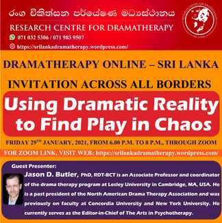 SRI LANKA: Online Dramatherapy Session for International Community, Using Dramatic Reality