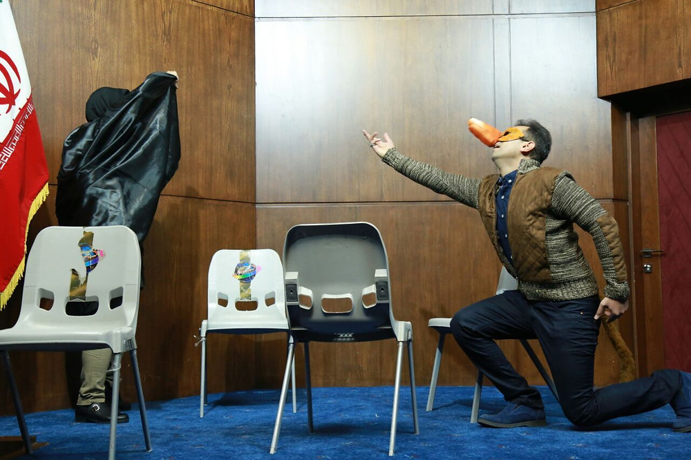 Performing in the first national Scientific Seminar of Drama Therapy in Iran