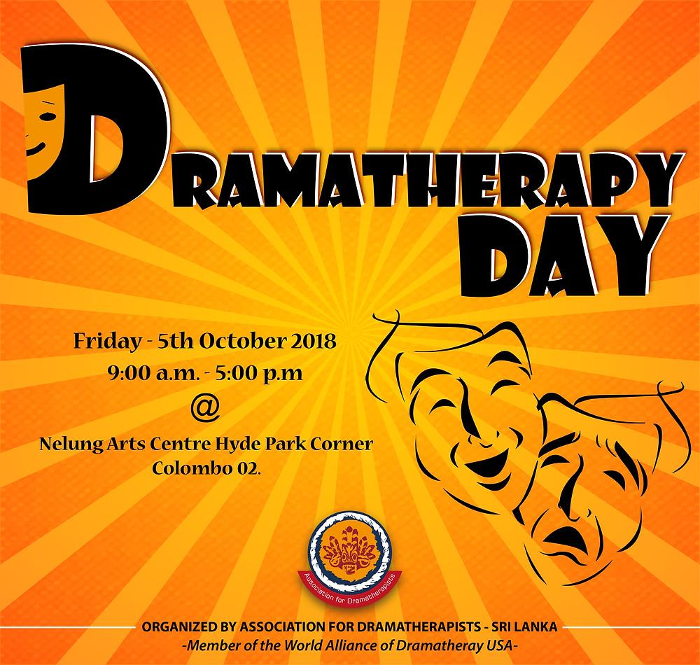 Sri Lanka Dramatherapy Day, workshops, flyer, invitation